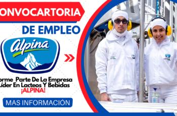 Empleo Disponible en Multinacional De lácteos Alpina